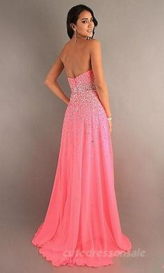 Natural Pink Prom Dresses Long Chiffon Prom Dresses 05465