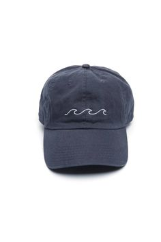 0bc10c287d63d Wave Baseball Hat in NAVY