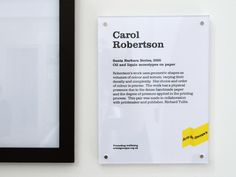 Art St George's exhibition label — Mytton Williams