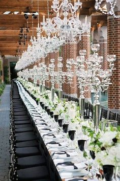 Table élégante de mariage