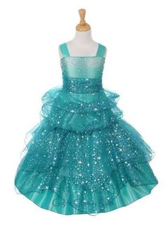 New Star Printed Organza Flower Girls Dress Party Pageant Christmas Rhinestone  #DressyHolidayPageantWedding Up to size 16