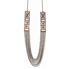 Tribal Necklace in Bronze