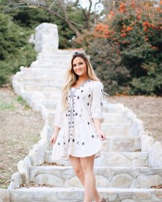 """In the words of Queen B """"I woke up like this""""... well...not me... never... she did!! 💕💕💕💕 Queen @kylie_brown33 slaying in our @freepeople dress!  Dress $128 at Orem  #amaradayspa #utah #spa #salon #boutique"""