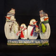 WOOD Creations: Winter Crafts Are Here!