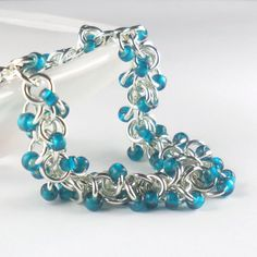 Shaggy Loops Beaded Chainmaille Sterling Silver by PuranaJewellery, £49.00