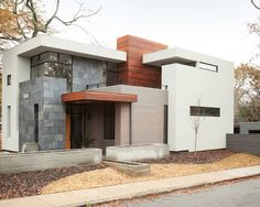Modern Spaces Modern Prairie Style Home Design, Pictures, Remodel, Decor and Ideas - page 16 MIXED MATERIALS ON HOME EXTERIOR