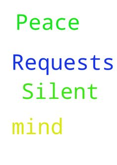 Silent Prayer Requests and Peace of Mind -  Silent Prayer Requests and Peace of Mind  Posted at: https://prayerrequest.com/t/xKL #pray #prayer #request #prayerrequest