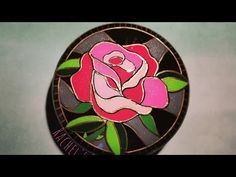 Pink Rose- Stained Glass - YouTube Cute Baby Monkey, Painted Rocks, Hand Painted, Stone Painting, Stained Glass, Cute Babies, My Etsy Shop, Rose, Artwork
