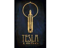 Science Poster 24x36 Steampunk Nikola Tesla Art Print Rock Star Scientist Physics Educational Poster Light Bulb Geek Chic Dorm Office Decor via Etsy