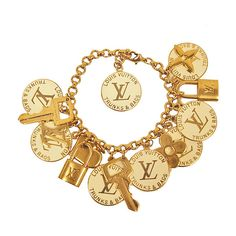 Louis Vuitton Trunks Bags Charm Bracelet ❤ liked on Polyvore featuring jewelry, bracelets, accessories, pulseras, louis vuitton, louis vuitton bangles, charm bracelet and louis vuitton jewelry