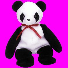 Beanie Babies Fortune the Panda Collectible Original 1997  Birth date: December 6, 1997 Status: Retired  Nibbling on a bamboo tree This little panda is hard to see You're so lucky with this one you found Only a few are still around!