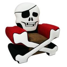 @Overstock.com - Magical Harmony Kids Skull Chair Boy - Your little pirate will love this boys skull chair by Magical Harmony. This chair is made of wood and metal with polyurethane foam filling and a microfiber fabric. The crocodile vinyl seat makes a stylish addition that is easy to clean.  http://www.overstock.com/Home-Garden/Magical-Harmony-Kids-Skull-Chair-Boy/6291031/product.html?CID=214117 $192.48