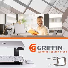 New in stock Griffin Elevator Desktop Stand for Macbook/Laptop  Available in Black, Gold and Matte Space Grey
