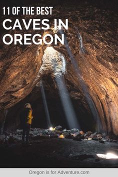 Oregon is home to some incredible caves and lava tubes, and the best part is that you often won't see any other people at them, giving you more of an Indiana Jones experience. These are my picks of the 11 best caves in Oregon that you have to visit if you love caves like I do. | Oregon is for Adventure #caves #oregoncaves #exploreoregon #oregonadventure #lavatubes Beautiful Places To Visit, Cool Places To Visit, Places To Travel, Travel Destinations, Oregon Travel, Travel Usa, Japan Travel, Oregon Coast, Pacific Coast