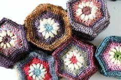 Hexagon Motif - Crochet Inspiration - No Pattern - (facilececile)