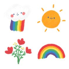 Cutie Rainbow Emoji Printable Stickers, Cute Stickers, Doodle Art, Doodles Bonitos, Note Doodles, Journal Stickers, Cute Cartoon Wallpapers, Cute Icons, Cute Illustration