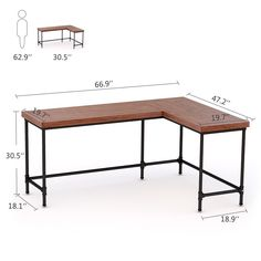 Home Office Furniture: Choosing The Right Computer Desk Diy Office Desk, Diy Computer Desk, Home Office Setup, Diy Desk, Home Office Design, Home Office Table, Office Ideas, Retro Furniture, Home Office Furniture