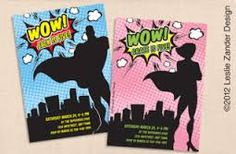 Superhero Party Invitations Kids Birthday Printable Baby Shower