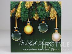 Świąteczne kartki firmowe na Boże Narodzenie.