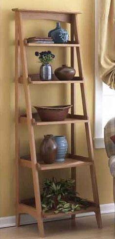 31-MD-00510 - Ladder Shelves Woodworking Plan.
