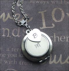 A personal favorite from my Etsy shop https://www.etsy.com/listing/250908948/personalized-locket-initial-necklace