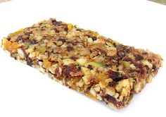 vegan: fruit, seed & nut power bars...