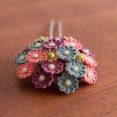 小菊の花 つまみ細工かんざし