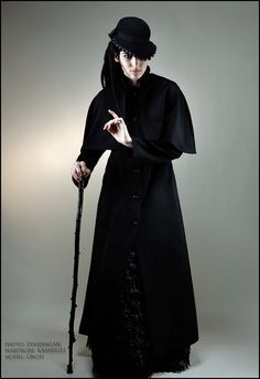 Jacqueline the Ripper Black Wool Caligari Greatcoat by kambriel