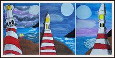 MaryMaking: Mixed Media Lighthouse Art Lesson