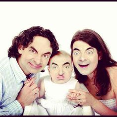 Mr Bean And His Family Funny picture Mr. Bean, Funny Face Swap, The Funny, Funny Art, Family Posing, Family Portraits, Mr Bean Funny, Awkward Family Photos, Family Pics