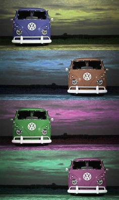 VW colorful camper kombi bus