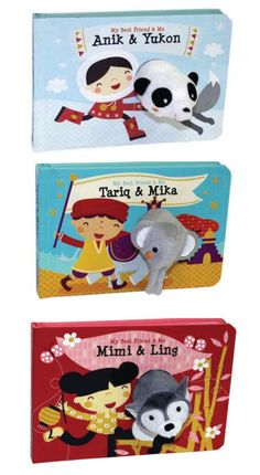 The My Best Friend and Me series is a terrific baby gift - each features a cute little finger puppet popping through the pages of the board book.