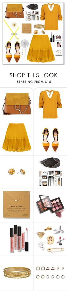 """Untitled #126"" by amala8527 ❤ liked on Polyvore featuring Chloé, Boohoo, Gianvito Rossi, Marc by Marc Jacobs, Dogeared, Marc Jacobs and Topshop"
