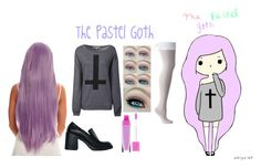 """""""Oblyvian Girls: the pastel goth"""" by madisonhood1 on Polyvore"""