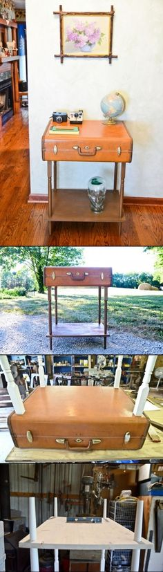 DIY Suitcase Furniture ideas