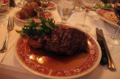 Ribeye @ Musso & Frank in H'wood