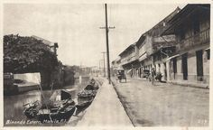 """Our city has flourished and grown ever since its inception because of its diverse population. They were the essence that added the """"flavoring"""" needed to become a true cosmopolitan city; Old Pictures, Old Photos, Filipiniana, Colonial Architecture, Spanish Colonial, Manila, Filipino, Philippines, Nostalgia"""