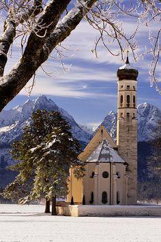 St. Coloman Church, Schwangau, Bavaria, Germany; photo by Brian Jannsen