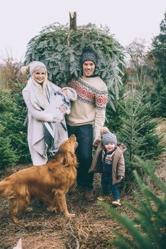 Picture Perfect Family Picking out a Christmas Tree! Simple but perfect Christmas card