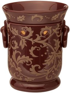 Plum Garland Full-Size Scentsy Warmer Welcome the crisp days of late fall and winter with Plum Garland& richly pigmented purple background and slightly raised, sandy vine-and-leaf pattern. Plum Garden, Stop And Shop, Candle Warmer, Wax Warmer, Purple Backgrounds, Scentsy, Garland, Great Gifts, Tableware
