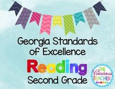 This pdf file includes Georgia Standards of Excellence posters for Second Grade Reading. These posters were designed in black and white so you can save your color ink! I print these posters on colored card stock and laminate so they are ready to hang in my classroom year after year. http://www.thevivaciousteacher.com