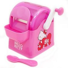 Hello Kitty Kitchen Appliances Are Taking Over (PHOTOS, VIDEO) Hello Kitty Rooms, Hello Kitty Kitchen, Hello Kitty House, Kitchen Buffet, Old Kitchen, Kitchen Ideas, Kitchen Appliance Storage, Kitchen Appliances, Kitchens