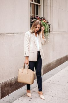 8895036677 Classic khaki blazer outfit  Khaki blazer with jeans.  classicstyle   classicoutfit  businesscasual