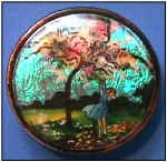 Adorable Rare Vintage Coty Butterfly Wing Foil Compact