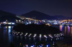 낮보다 밤이 아름다운 여수바다가 전해주는 매력적인 장군도의 야경
