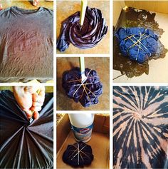 Reverse Tie-Dye Tutorial Making a reverse tie-dye, or bleach tie-dye is a fun way to spruce up an old shirt. It takes something plain, and many times stained…and turns it into a work of art. Tie-dye can be a really fun project for you and your kids. Tie Dye Tutorial, Shibori, Make A Tie, How To Tie Dye, Diy Tie Dye Designs, Reverse Tye Dye, Tie Dye Crafts, Diy Crafts, Fabric Crafts