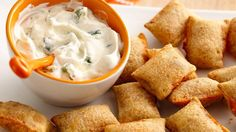 Jalapeño Popper Dip and Pizza Rolls® This dip adds a fun familiar flavor that enhances Totino's® pizza snacks!