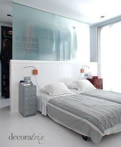 arquitrecos - blog de decoração: Quarto + closet + escritório em 20 m2?? É possível!!!