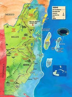 Map of Belize. If only I was not married to a fraud at the time I could have lived here a while more. Met many great people though.