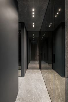Behance :: Search Black Interior Design, Flat Interior, Apartment Interior, Apartment Design, Bathroom Interior, Adobe Photoshop, Lightroom, Corridor Lighting, Secret House